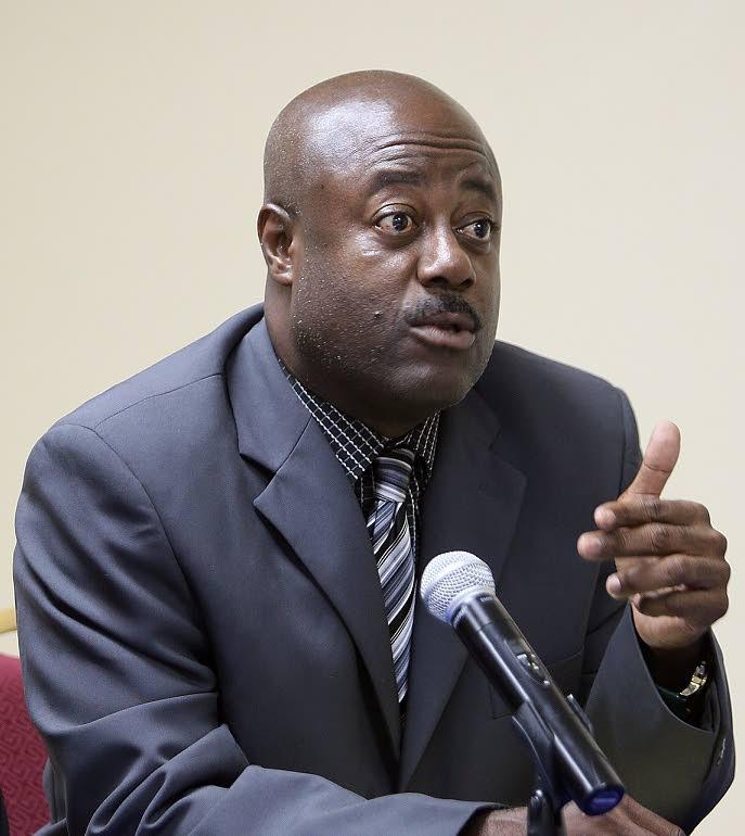Prison Officers Association president Ceron Richards -