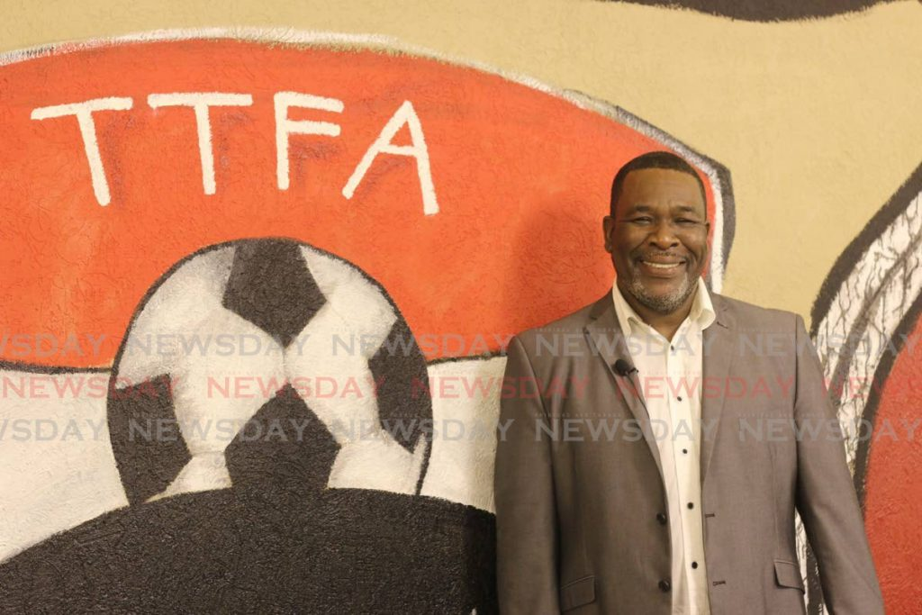 In this Nov 24, 2019 William Wallace smiles after being appointed TT Football Association president, at the Home of Football, Balmain, Couva. - Marvin Hamilton
