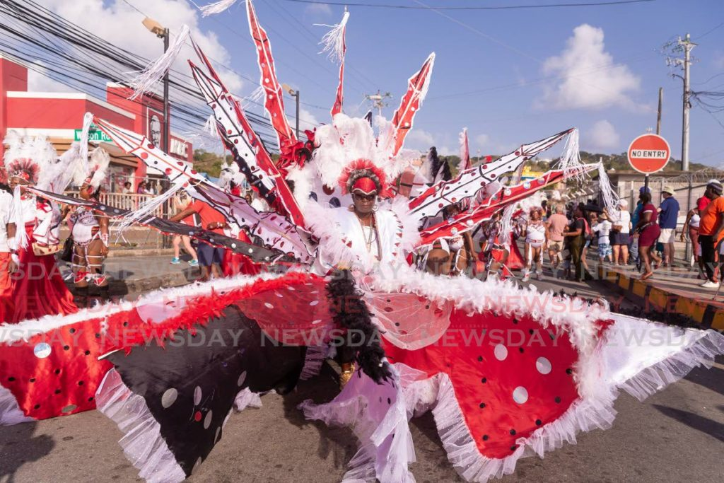 Queen of Carnival Lue-Ann Melville, portraying the Spirit of Carnival on February 25. Pan Trinbago's Tobago Region is in support of a separate Tobago Carnival. - DAVID REID