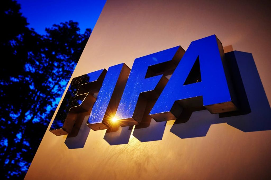 In this file photo taken on June 2, 2015, the FIFA logo is pictured at the FIFA headquarters  in Zurich. (AFP PHOTO) -