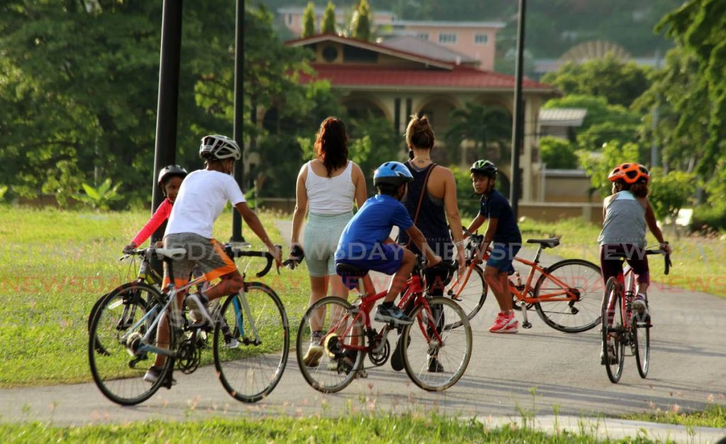 In this November 2020 file photo children ride their bicycles in West Park Savannah. Photo by Sureash Cholai