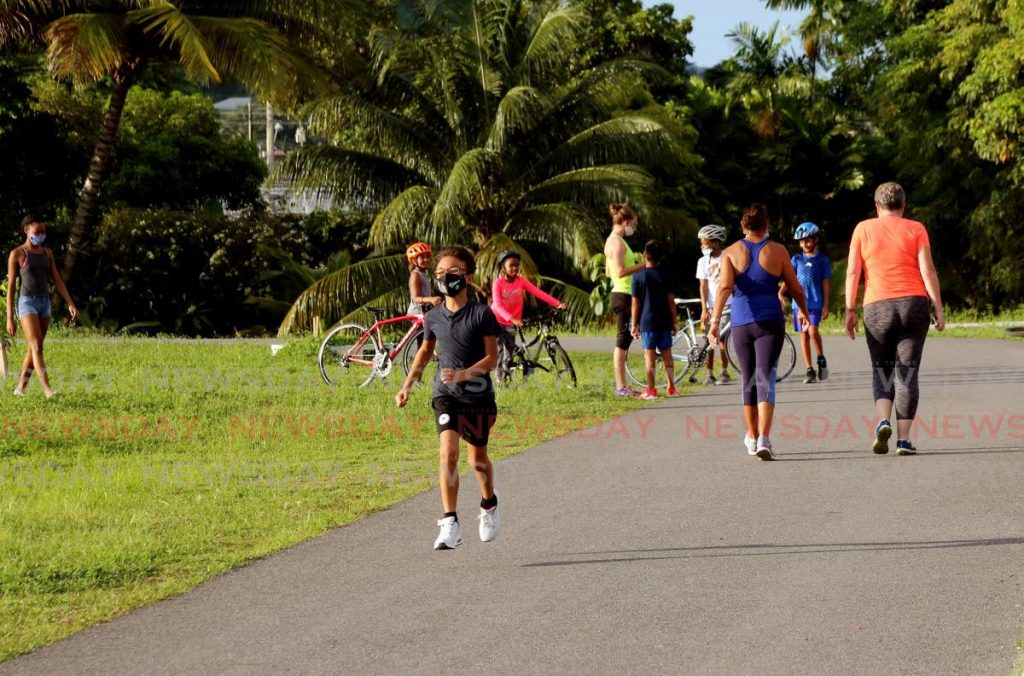West Park Savannah is a welcome space to exercise for children and adults in Diego Martin. PHOTO BY SUREASH CHOLAI -