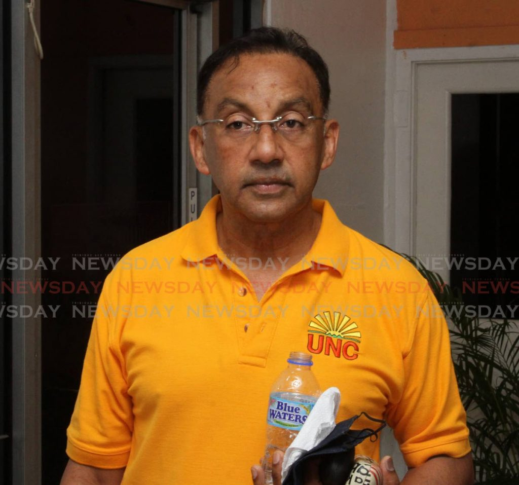 In this file photo, Vasant Bharath is at the launch of his campaign for the leadership of the UNC in El Socorro on October 30. Photo by Angelo Marcelle. -