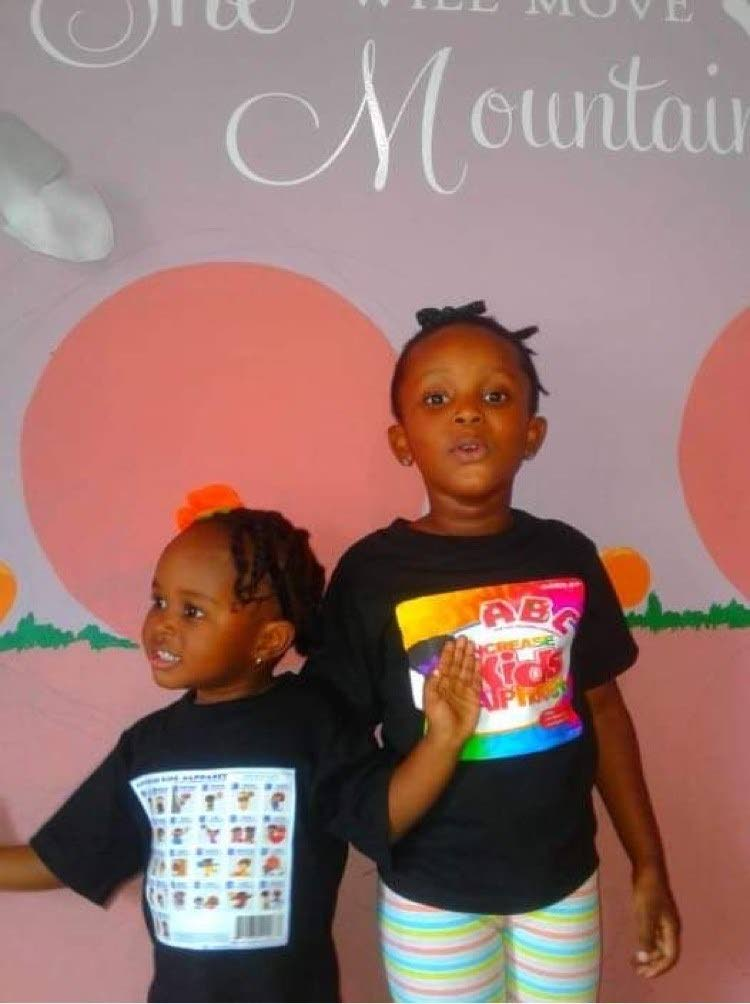 Jahhdell Browne, left, and her sister Jayydell. -