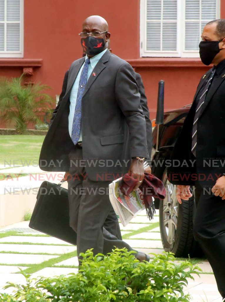 Prime Minister Dr Keith Rowley arrives for a sitting of Parliament on November 9. File photo/Sureash Cholai -