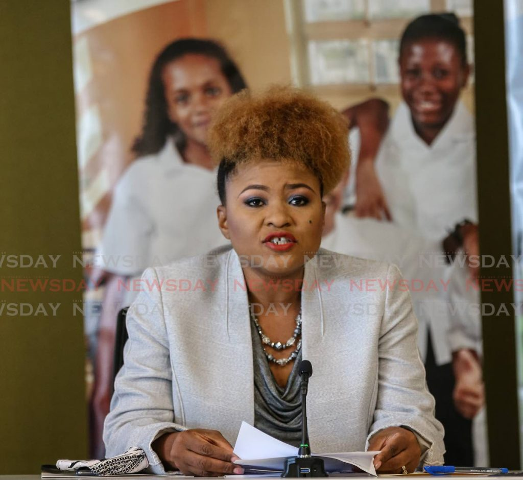 Education Minister Nyan Gadsby-Dolly  PHOTO BY JEFF MAYERS -