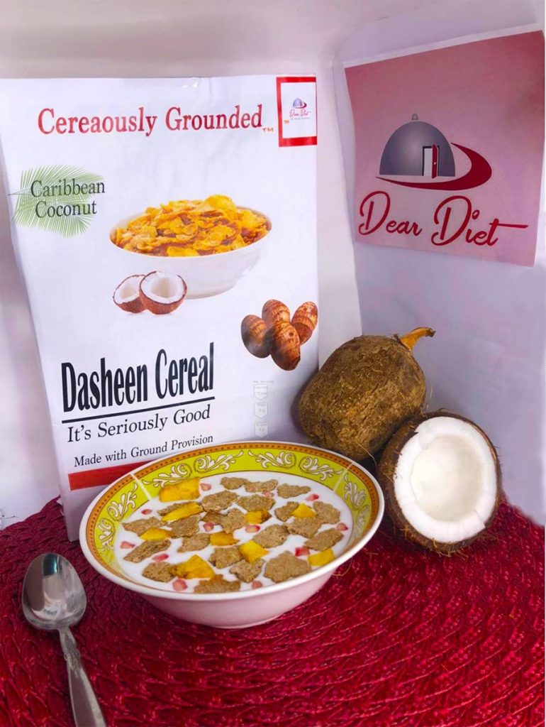 Dasheen cereal made by Dear Diet Enterprises was one of the products featured at Blue Food Festival. -