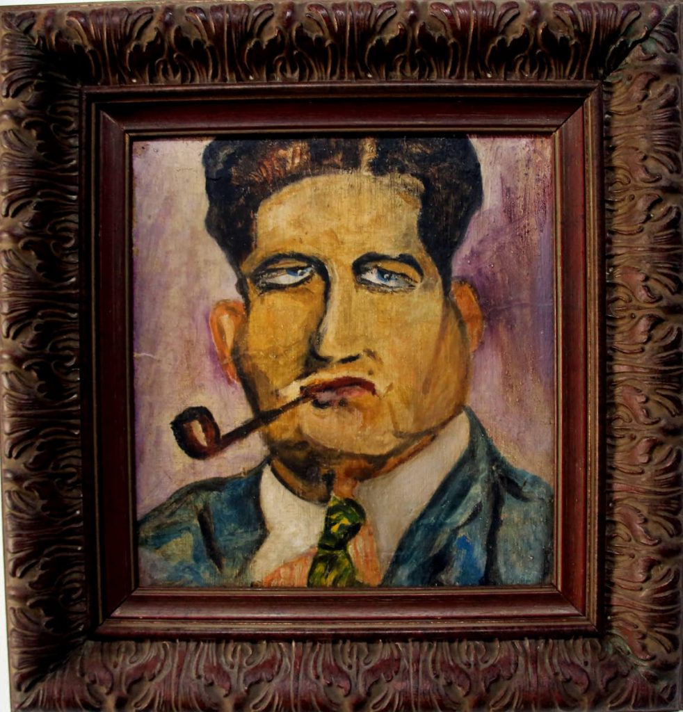 Leo Basso's impressionistic sketch of Albert Gomes. -