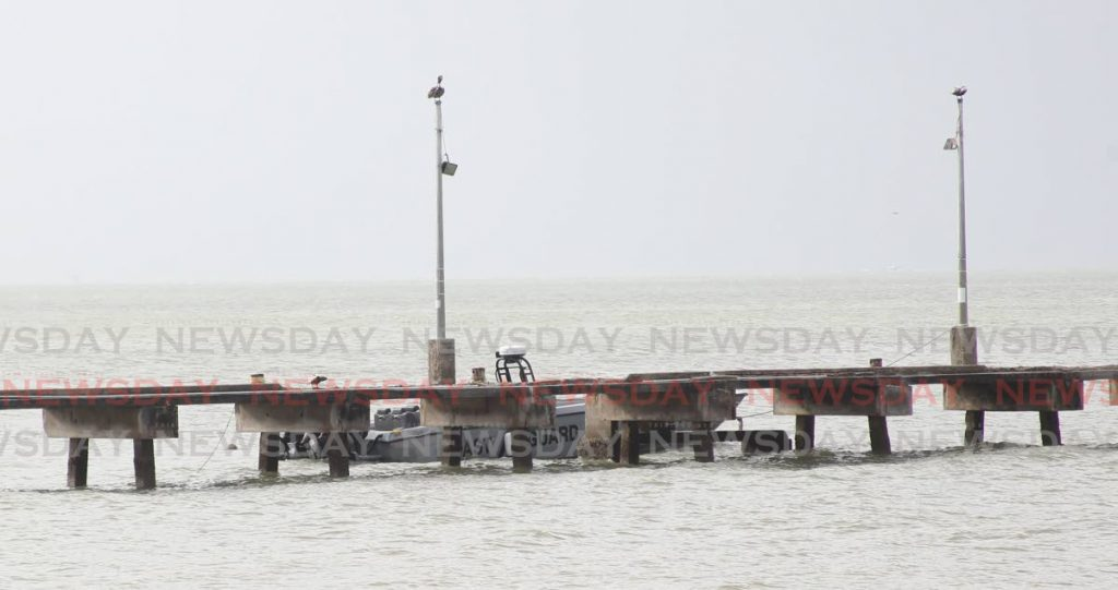 A docked coast guard vessel along the jetty in Cedros. File photo by Lincoln Holder