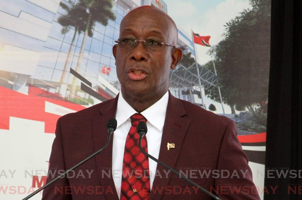 Prime Minister Dr. Keith Rowley.- Angelo Marcelle