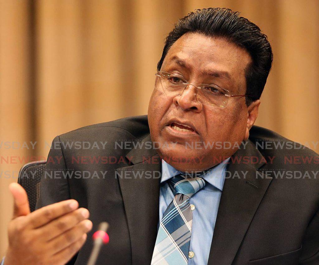 Former chief education officer Harrilal Seecharan. -