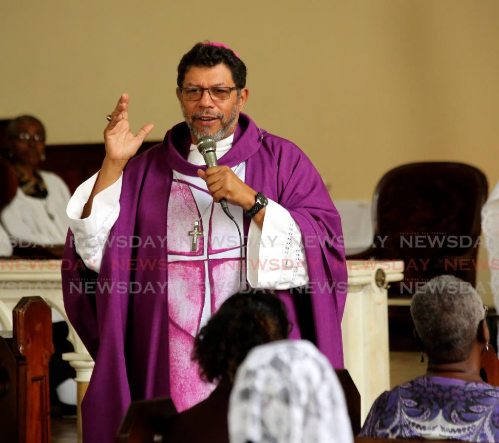 Archbishop Gordon during mass at St Mary's College chapel, Port of Spain. File photo/Sureash Cholai -