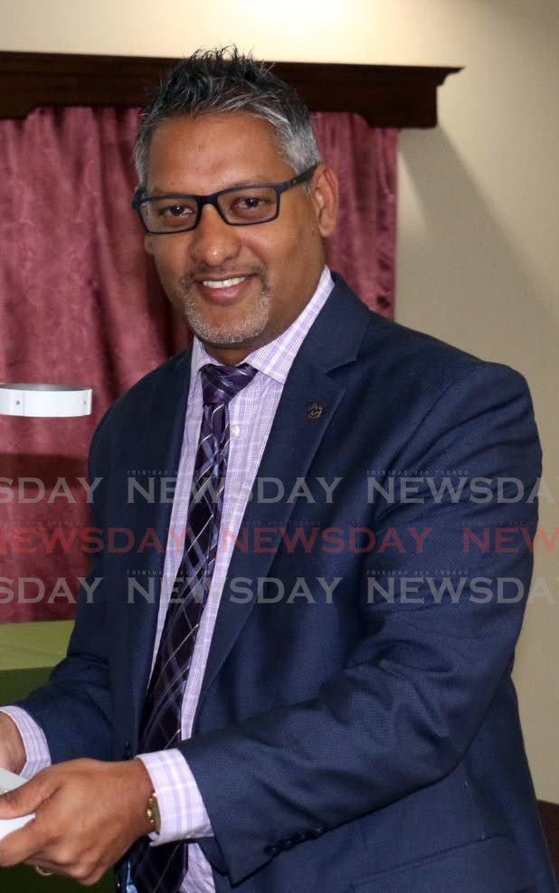 Agriculture, Lands and Fisheries Minister Clarence Rambharat. -