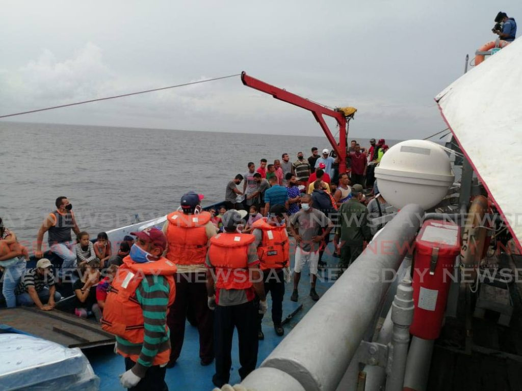 In this July file photo a Lacourt company ship took Venezuelans back to their country. - Grevic Alvarado