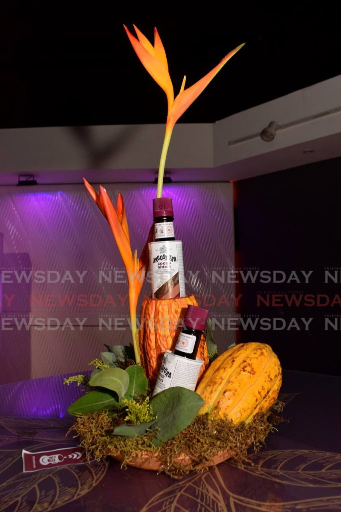 Angostura cocoa bitters on display at Angostura House during a product launch on July 29. PHOTO BY VIDYA THURAB -