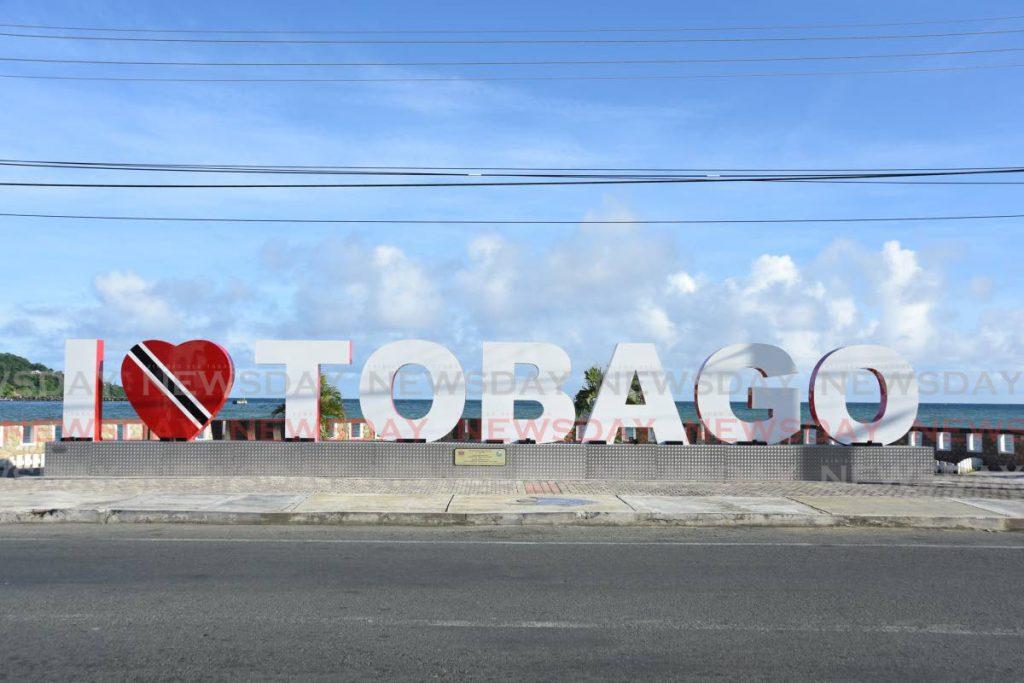 File photo: The I Love Tobago sign at the Scarborough esplanade. - Ayanna Kinsale
