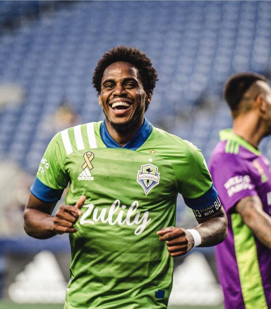 TT and Seattle Sounders' midfielder, Joevin Jones.  -