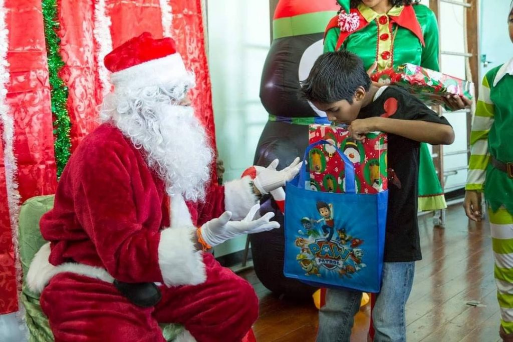Give a Christmas present to a less fortunate child this year. - Sataish Rampersad
