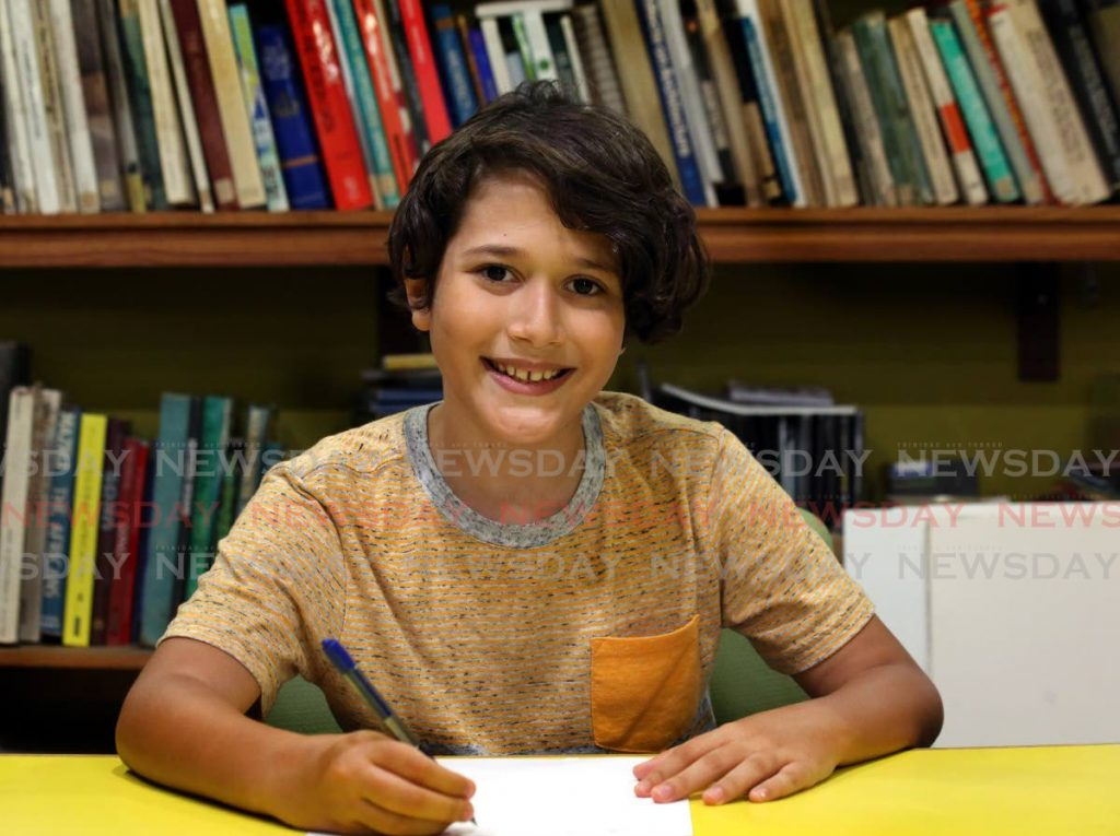 Josse Franco, winner of the nine to 12 category of the Bocas Lit Fest Dragonzilla Short Story Challenge.  -