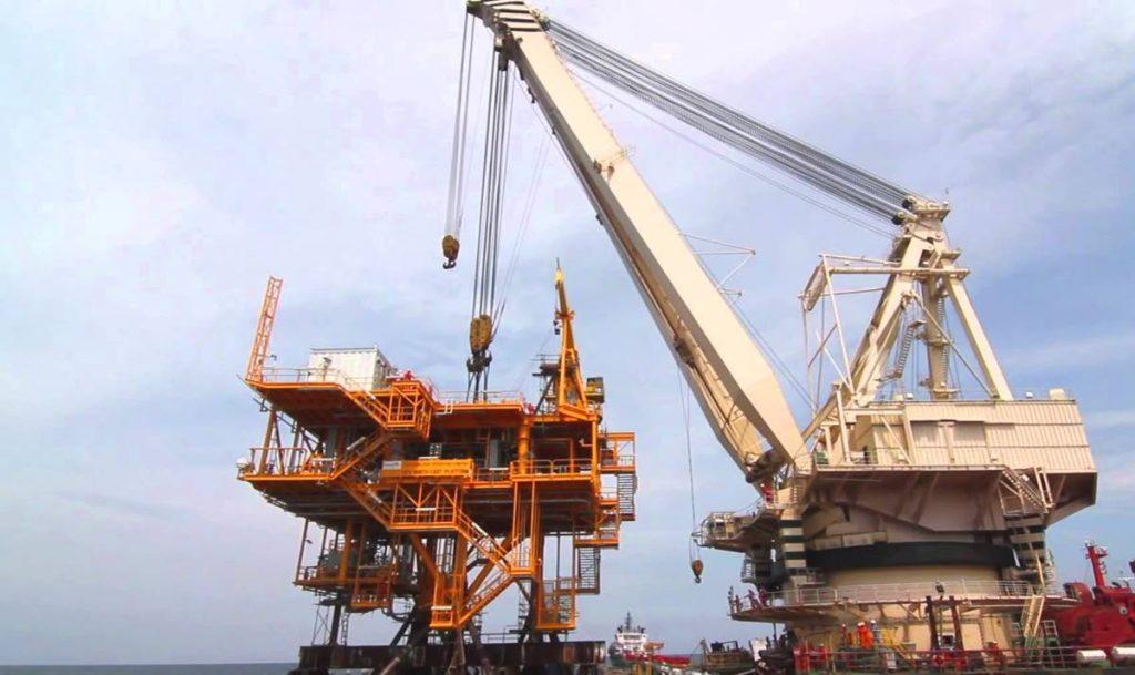 A Perenco platform offshore Trinidad. -