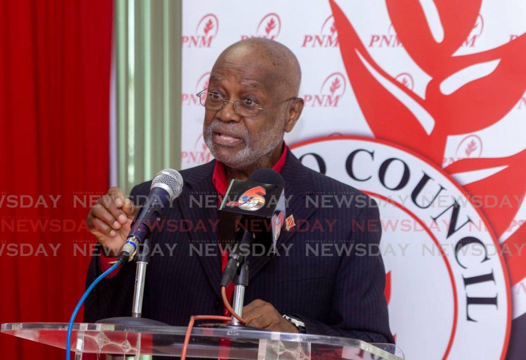 PNM Tobago Council chairman Stanford Callender.  PHOTO BY DAVID REID  -