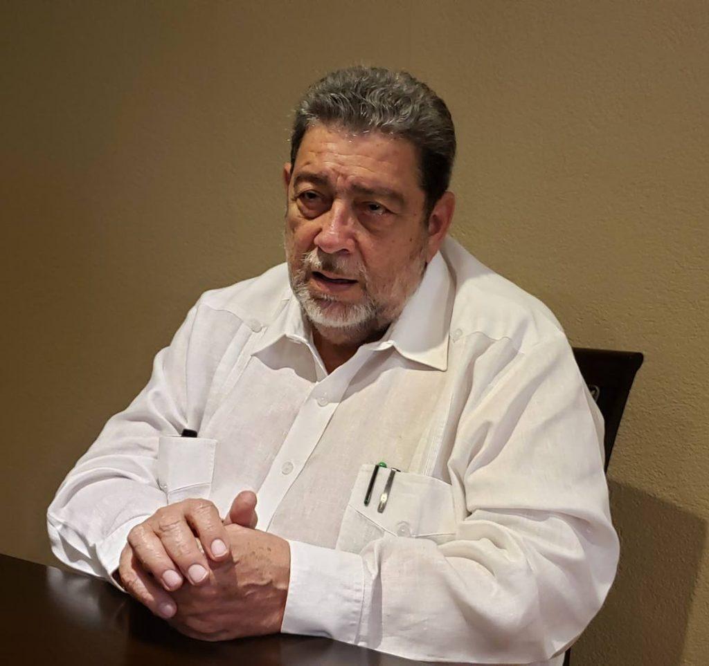 St Vincent PM Ralph Gonsalves. -