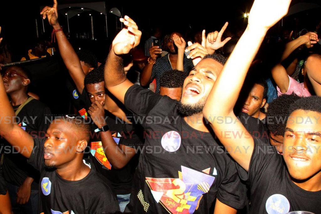 Fete lovers have a ball at Trinity College's Soka in Moka all-inclusive fete on January 13, 2020. The 2021 edition will be a virtual experience.   FILE PHOTOS/ROGER JACOB  -
