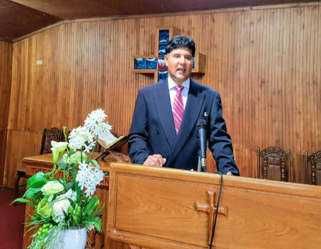 Justice Frank Seepersad delivers a sermon on Sunday at the St Andrews Theological College in San Fernando. -