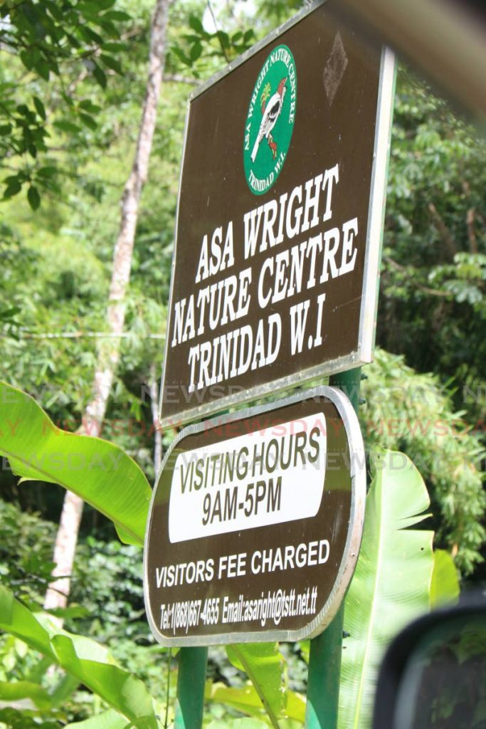 The Asa Wright Nature Centre sign. File photo/Angelo Marcelle -
