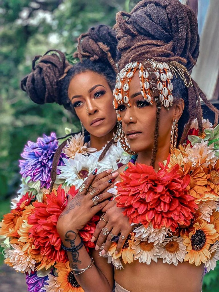 Twins Asha and Ayanna Diaz, known as the Wadada Sisters and creators of the Wadada fashion brand. Photo courtesy the Wadada Sisters -