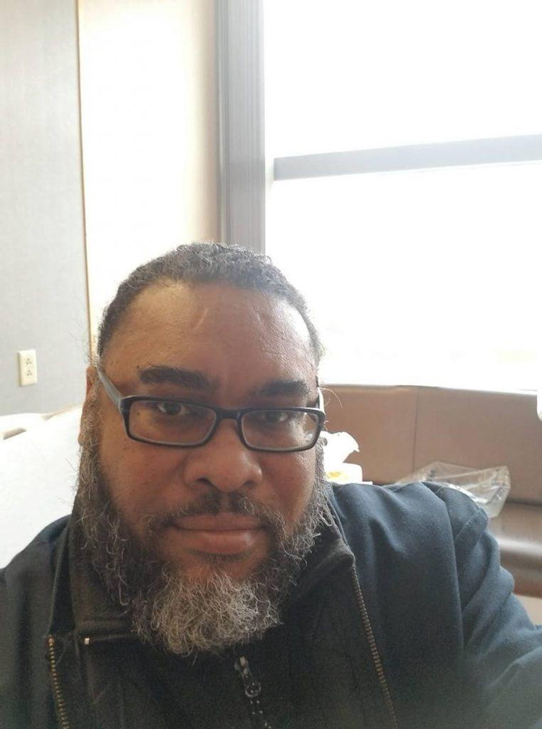 Actor Clifford Learmond gets ready to leave the hospital in Pennsylvania after being treated for numerous health issues. -