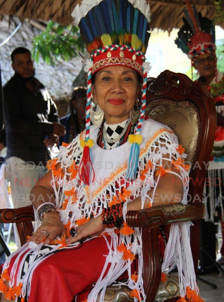 Carib Queen Nona López Calderón Galera Moreno Aquan. The Santa Rosa Carib Queen was sanctioned by the church in the 1800s. She is considered the keeper of traditions and remains the most recognisable representation of the First People. -