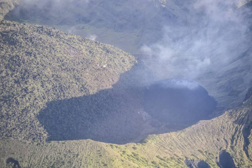 The enlarged dome at the La Soufriere volcano in St Vincent - Photo courtesy UWI Seismic Research Centre