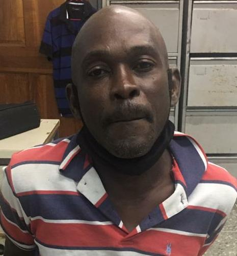 Terron Williams of Indian Walk Moruga was jailed on Monday charged with three counts of breaching a protection order.  - TTPS