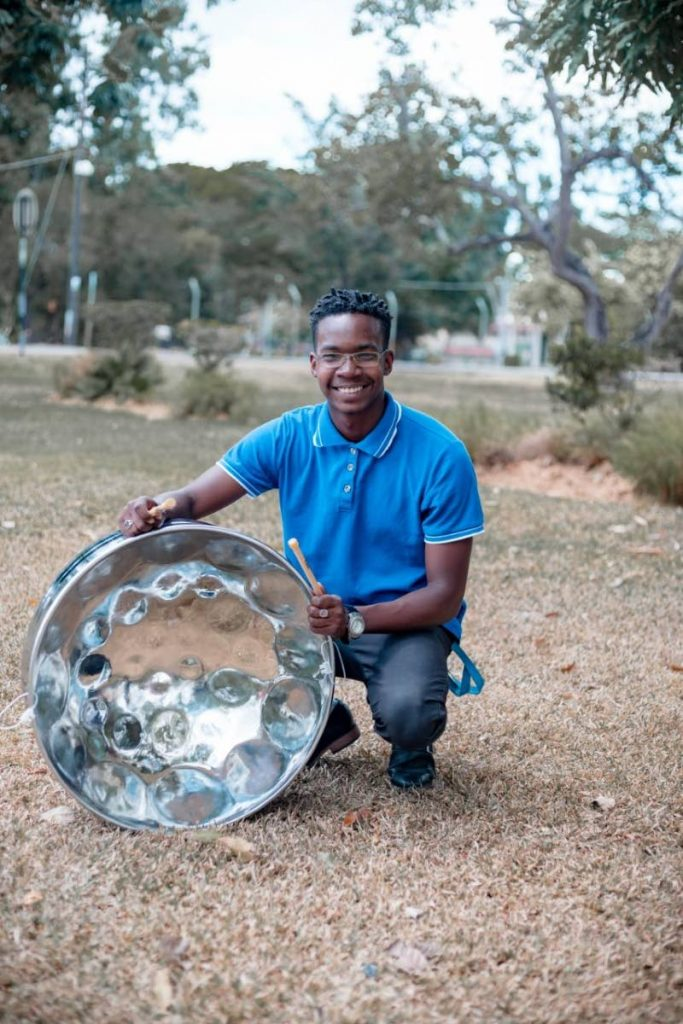 Emmanuel Joseph, a second-year student at The University of the West Indies, is the second recipient of the Jit Samaroo Award which is given to BP Renegades steelband members. -