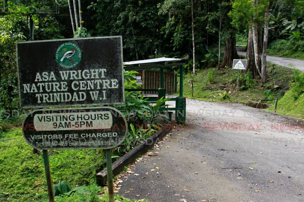 File photo: The entrance to the Asa Wright Nature Centre which has been closed owing to a lack of funding as a result of the covid19 pandemic. - ROGER JACOB