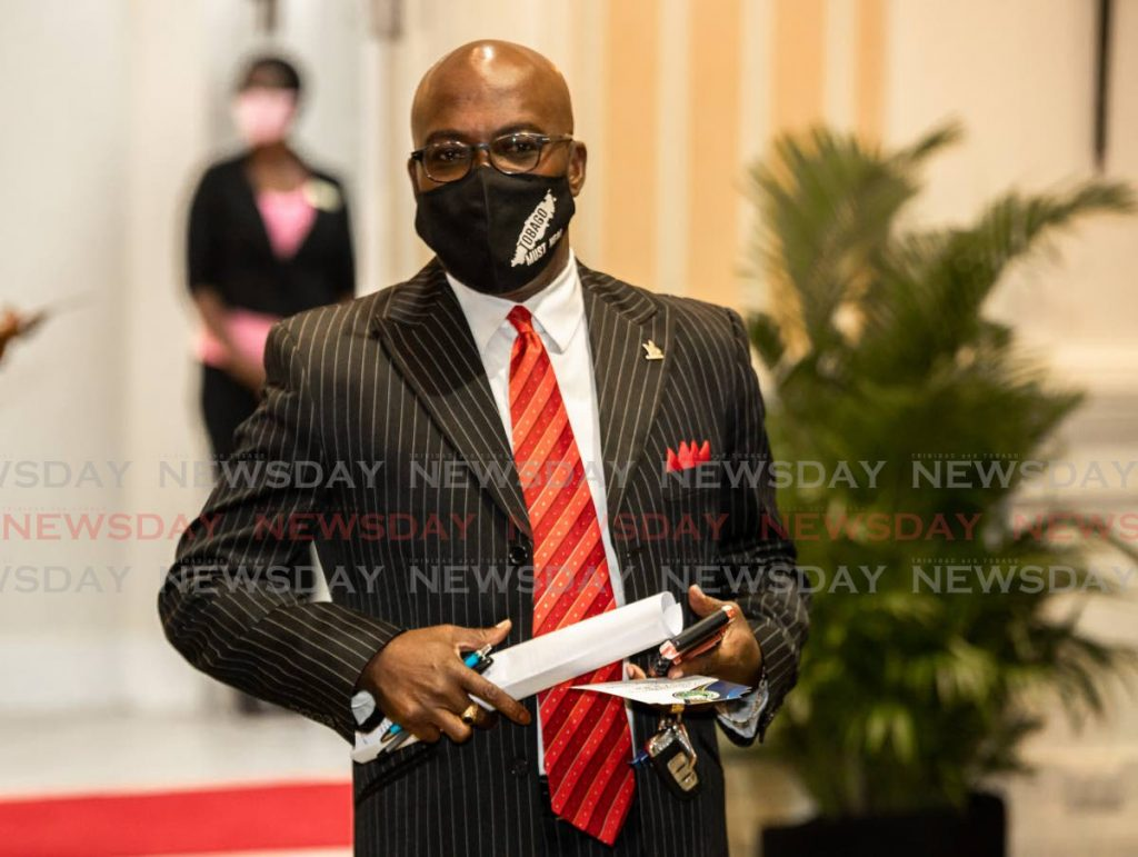 Pastor Terance Baynes arrives at the Magdalena Grand Beach & Golf Resort on Thursday to be sworn in as an Assemblyman and electoral representative for Bethel/Mt Irvine. PHOTO BY JEFF K MAYERS  -