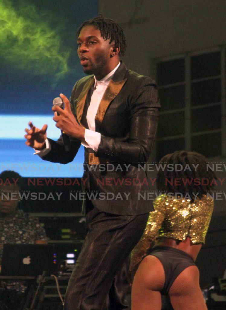 Sekon Sta performs at his Sekon Sunday concert at Fatima College, Mucurapo Road, on January 12, 2020. - ANGELO MARCELLE