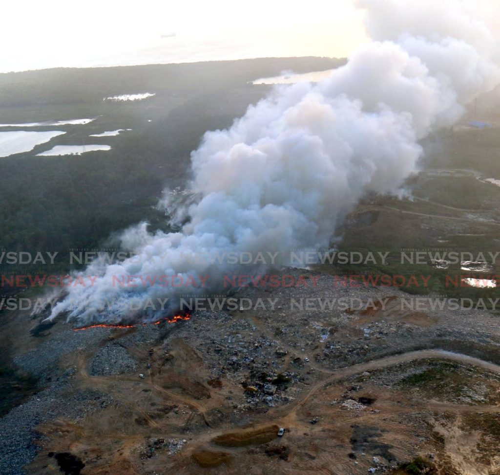 In this 2015 file photo, a thick, billowing smoke blows from a fire at the Beetham landfille. FILE PHOTO/ANGELO MARCELLE -