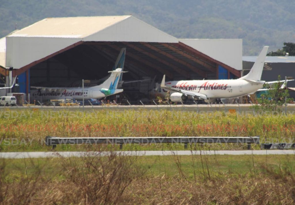 Caribbean Airlines jets at Piarco Airport. - ROGER JACOB