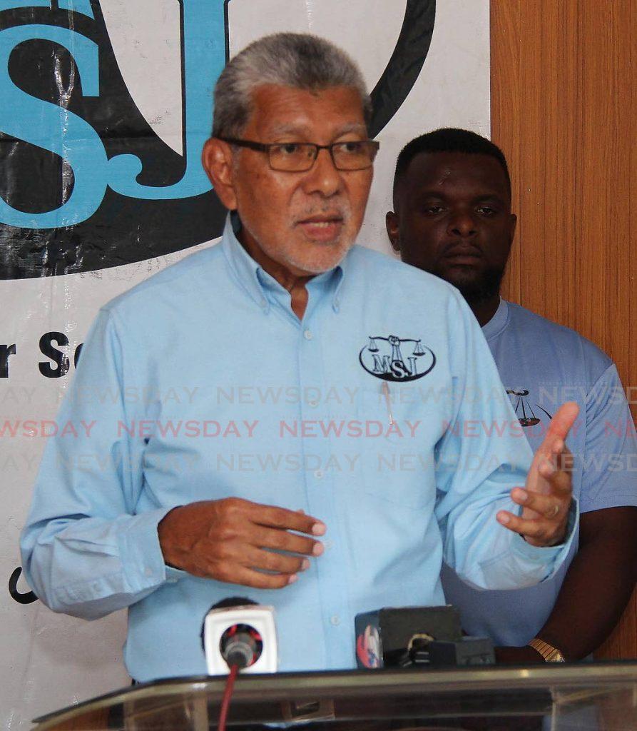Movement for Social Justice political leader David Abdulah. -