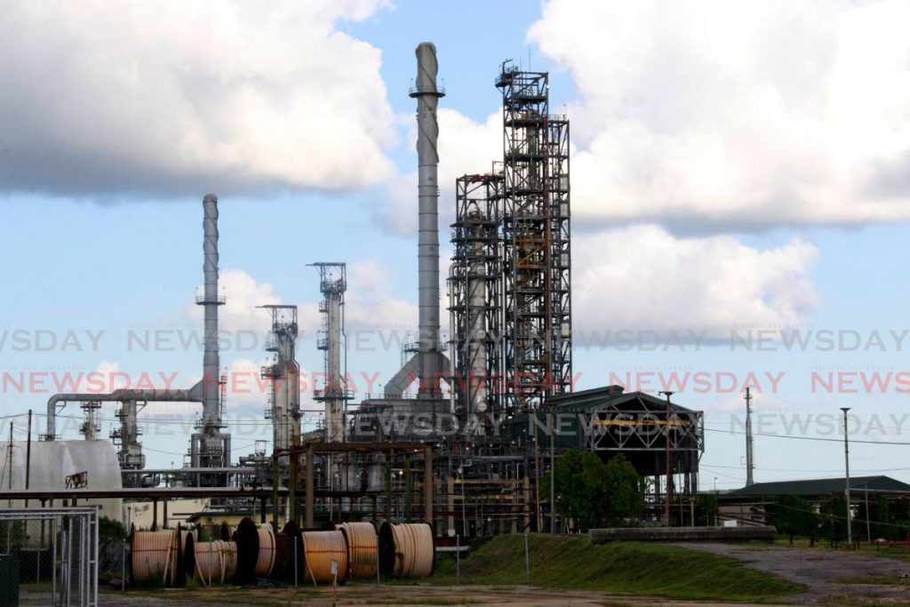 A view of the refinery from Marabella. The OWTU is challenging the Finance Minister's reasons for rejecting its bid, for a third time, for the refinery. File photo -