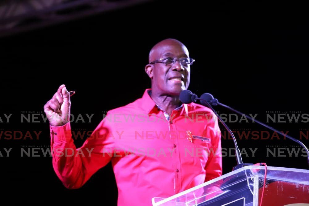 FILE PHOTO: Prime Minister Dr Keith Rowley  -