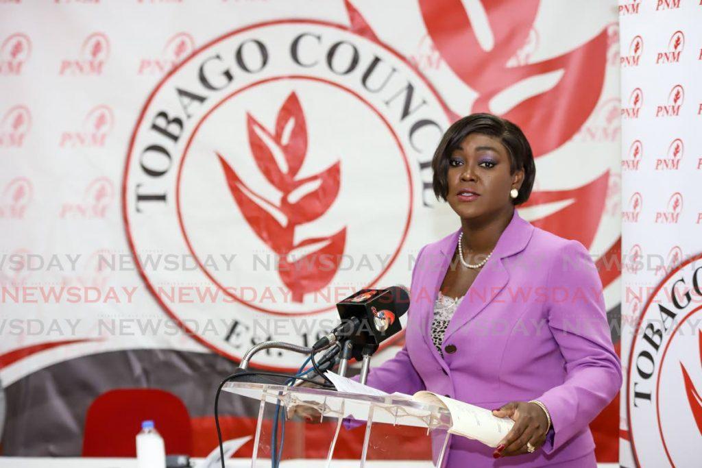 PNM Tobago political leader Tracy Davidson-Celestine. -