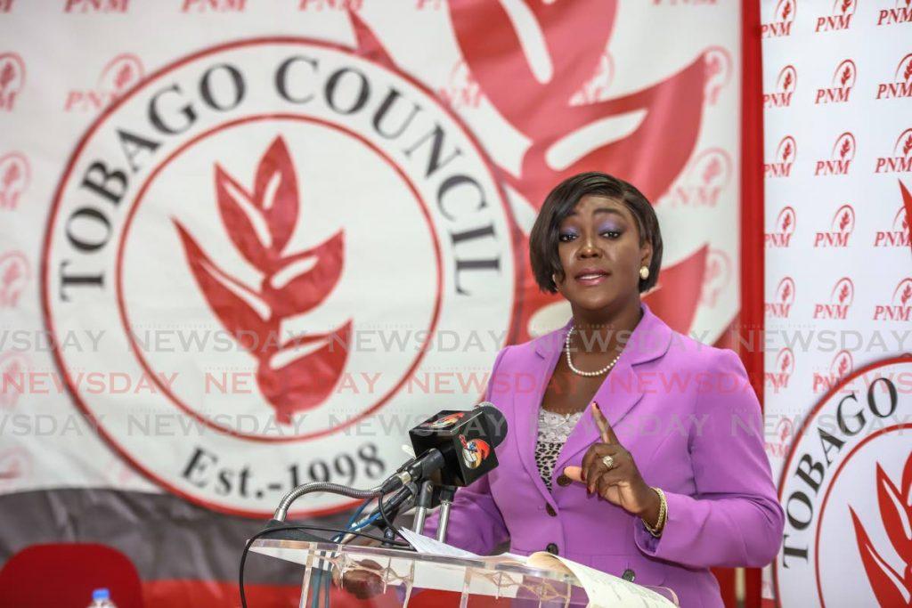 PNM Tobago Council political leader Tracy Davidson-Celestine - Jeff K Mayers