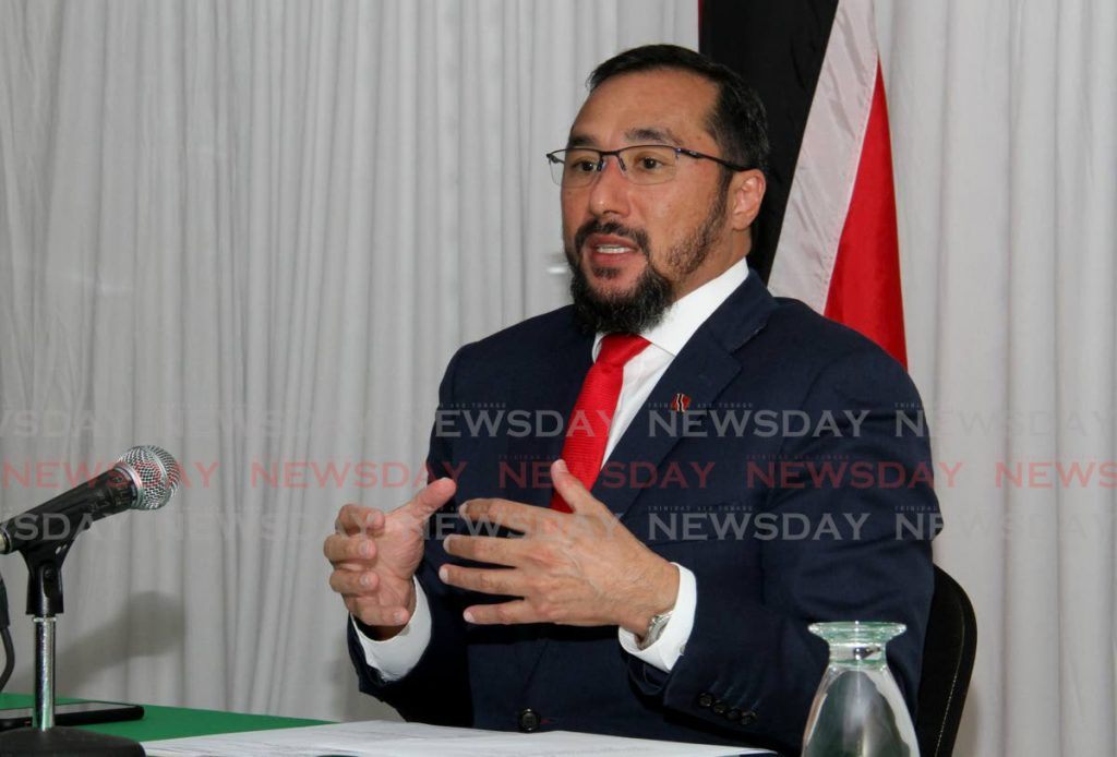 New Minister of Energy Stuart Young.  Photo by Ayanna Kinsale
