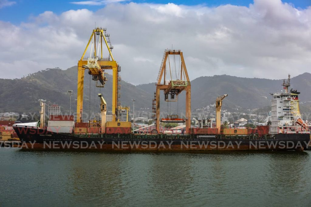 FILE PHOTO: A cargo vessel docked at the Port of Port of Spain. - JEFF K MAYERS