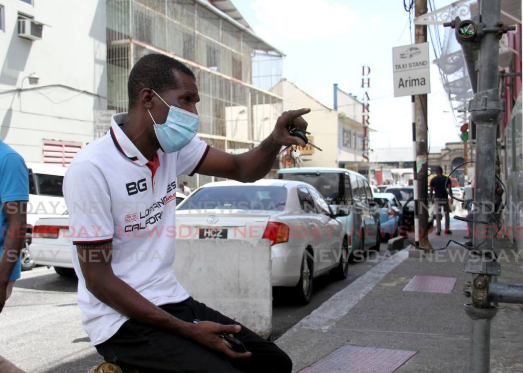 File photo: Arima taxi driver Celestino Charles speaks about the safety of his passengers on the Arima taxi stand at Henry Street, Port of Spain.  - Ayanna Kinsale