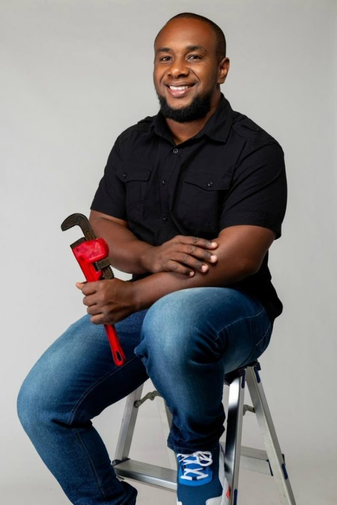 Master plumber and founder of  Apap Plumbing and Construction Co Ltd, Abubakar Paponette.  -