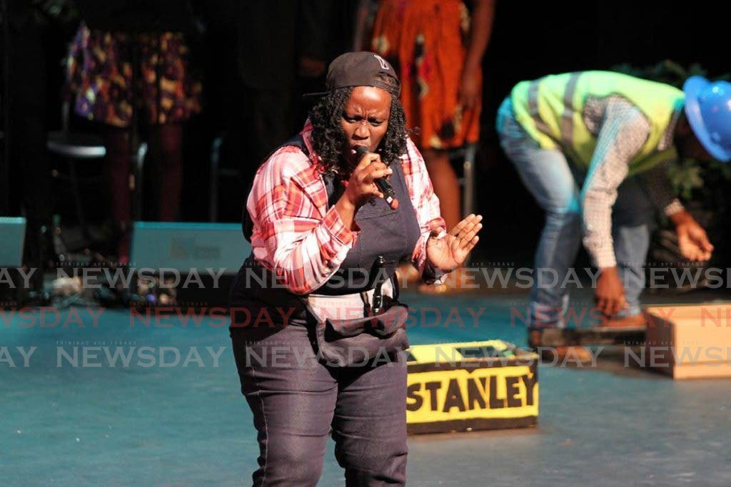 Leslie Ann Ellis performs at the National Women's Action Committee (NWAC) National Calypso Queen Competition at the Queen's Hall in 2017. -
